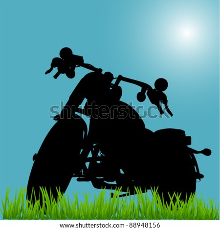 abstract chopper motorcycle background - stock vector