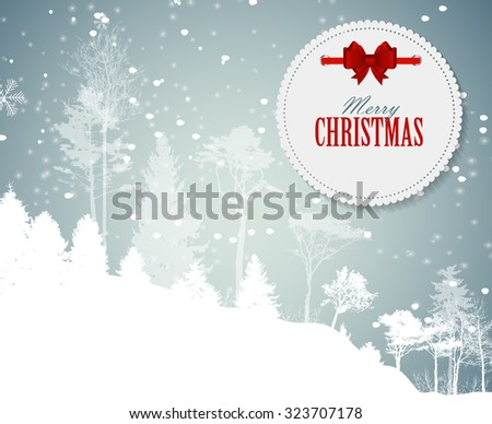 Abstract Christmas and New Year Background. Vector Illustration EPS10 - stock vector