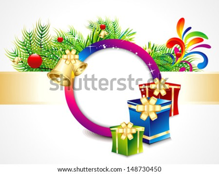 abstract Christmas background with gifts vector illustration
