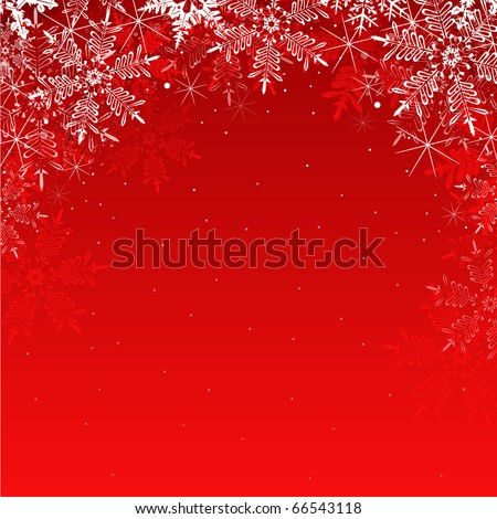 abstract Christmas background with snowflakes - stock vector