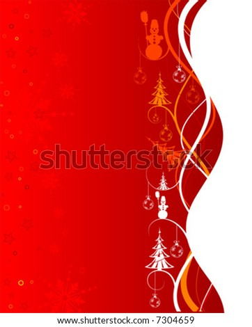 Abstract christmas background with snowman, element for design, vector illustration