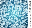 Abstract Christmas background with soft fluffy snow made of realistic falling snowflakes. - stock vector