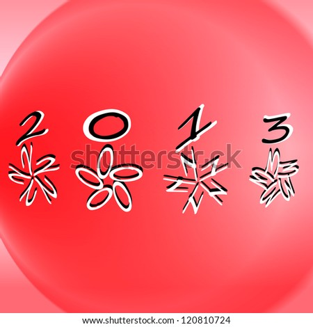 Abstract christmas balls vector illustration