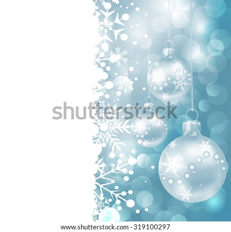 Abstract Christmas card, border frame, christmas background, vector
