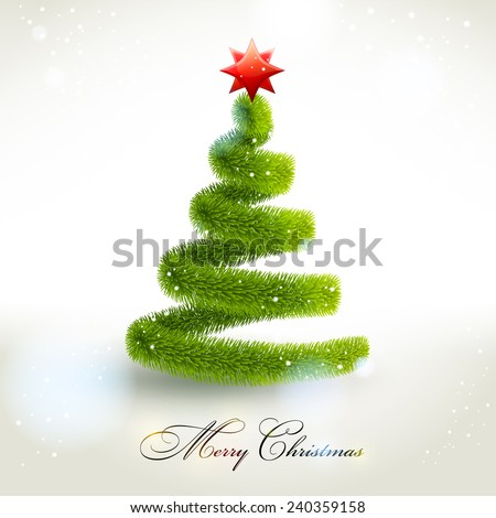 Abstract christmas fir tree. Vector eps 10. - stock vector