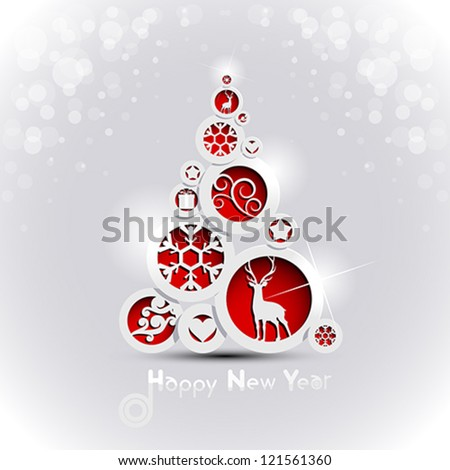 Abstract Christmas tree - stock vector