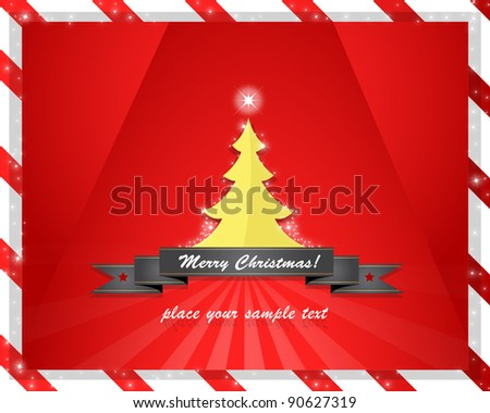 abstract christmas tree vector design