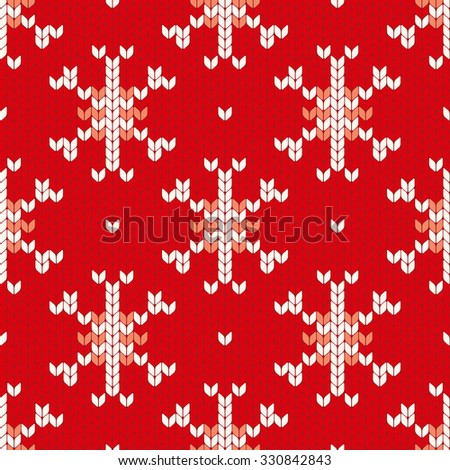 Abstract Christmas Vector Seamless Knitting Pattern Stock Vector