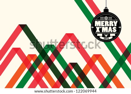 Abstract christmas web design background/vector - stock vector