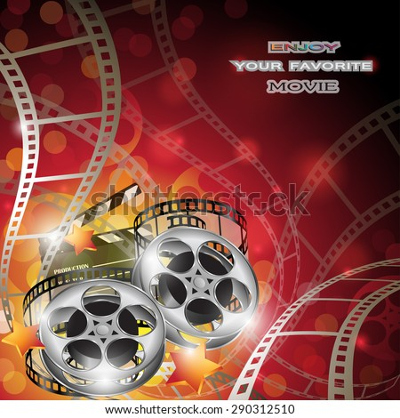 Abstract Cinema Background - stock vector