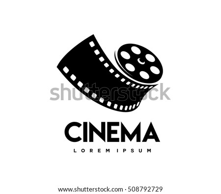 Abstract cinema logo vector template isolated stock vector - Clipart cinema gratuit ...