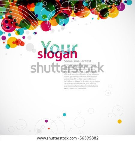 abstract circle background - corporate brochure - stock vector
