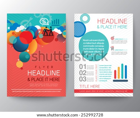 Abstract Circle design Brochure Flyer Layout vector template in A4 size - stock vector