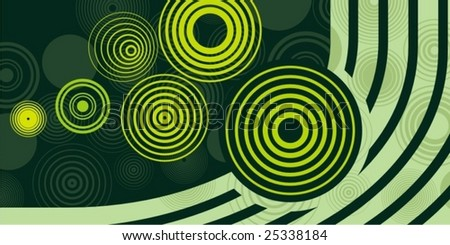 Abstract circle design, vector series.