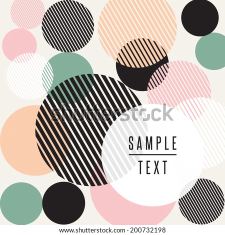 Abstract circle design with text - stock vector