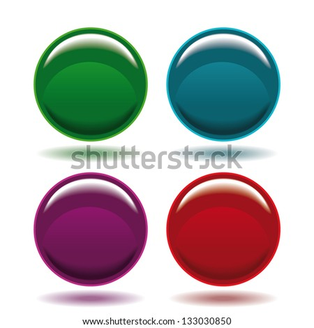 Abstract circle icons - stock vector