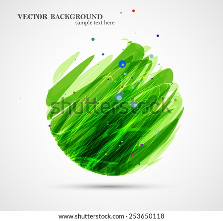 Abstract circle illustration, colorful digital composition - stock vector