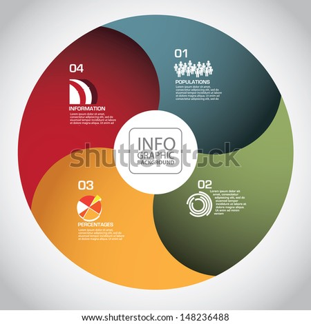 Abstract circle infographic template design. EPS 10 vector, grouped for easy editing. No open shapes or paths. - stock vector