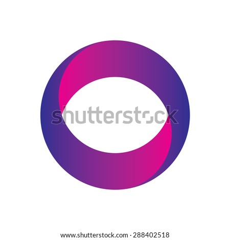 Abstract circle logo design template, vector, icon element, violet and pink color.
