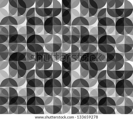 Abstract circle monochrome geometrical design. - stock vector