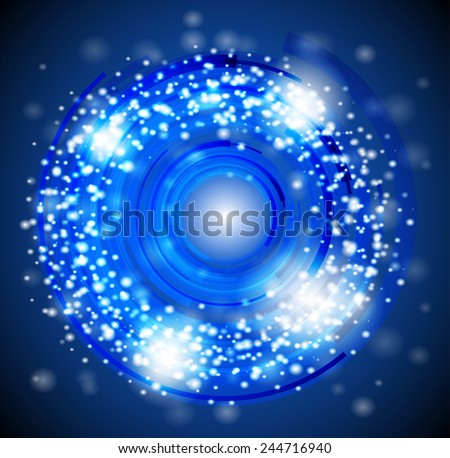 Abstract Circle motion background in blue tones  - stock vector