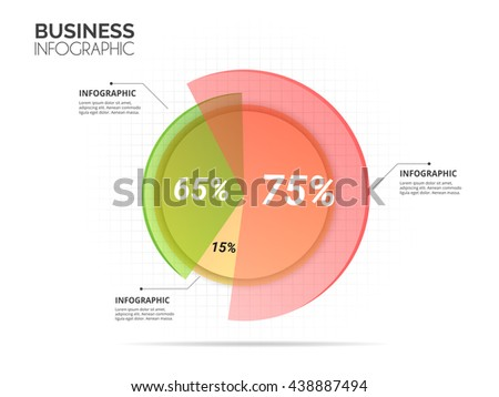 Abstract circle multi color chart with white background infographic template. Vector eps10.