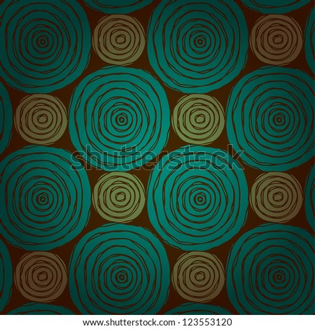 Abstract circle seamless texture. Bright ethnic endless pattern with rough scribble rounds. Template for design and decoration - stock vector