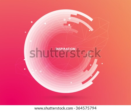 Abstract Circle Vector Design