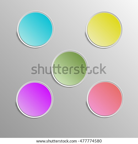 abstract Circle web buttons Colorful