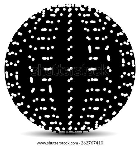 Abstract Circle with Random Holes - stock vector