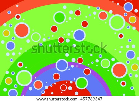abstract circles and rings background artwork rainbow colors