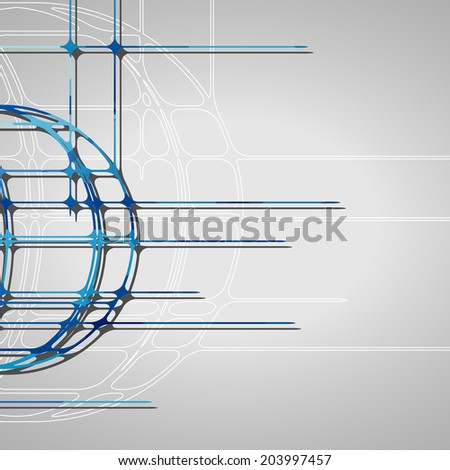 Abstract circles background, futuristic dynamic illustration.