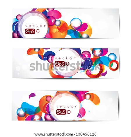 Abstract circles colored design - stock vector