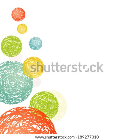 abstract circles consisting of multicolored spirals - stock vector