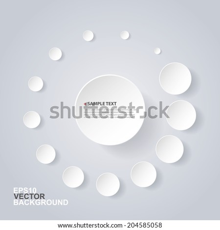 Abstract Circles Design - stock vector