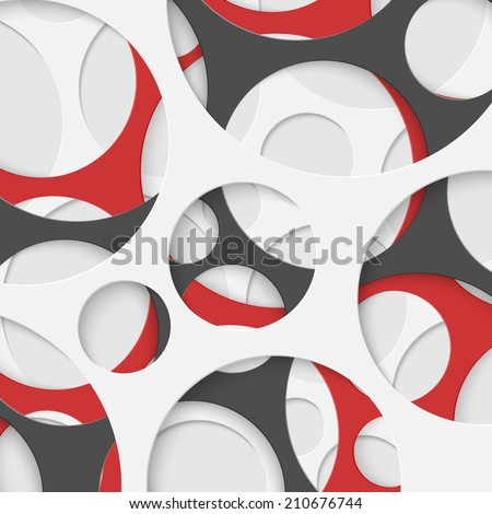 Abstract Circles Geometric Background. Vector Illustration. - stock vector