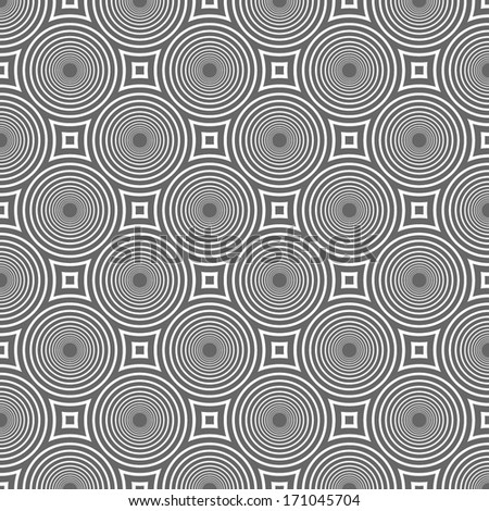 abstract circles pattern, texture. optical illusion background - stock vector
