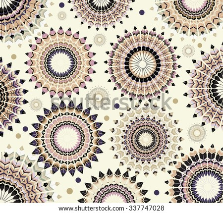 Abstract circles, retro design - stock vector