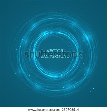 Abstract circles vector background - stock vector