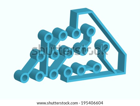 abstract circuit  - stock vector