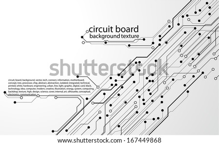 abstract circuit board background texture  - stock vector