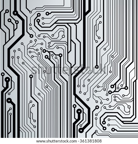 Abstract circuit board techno background. EPS10 vector illustration pattern - stock vector