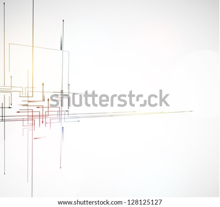 abstract circuit computer line high technology business background
