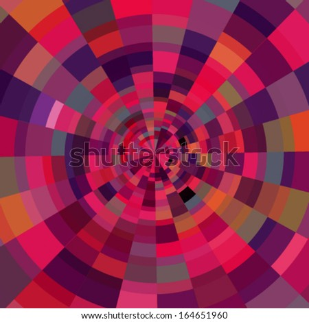 Abstract circular colorful background, vector illustration - stock vector