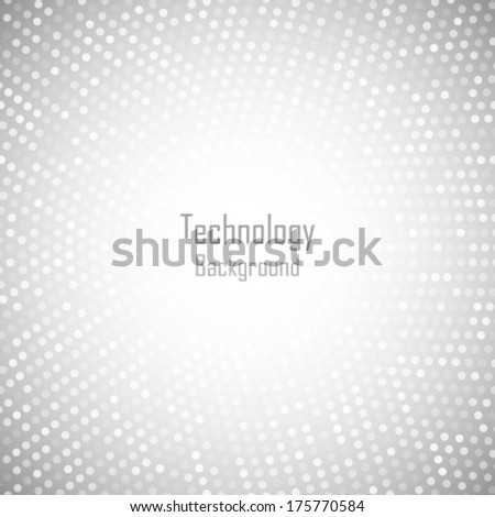 Abstract Circular Light Gray Background. Vector illustration  - stock vector