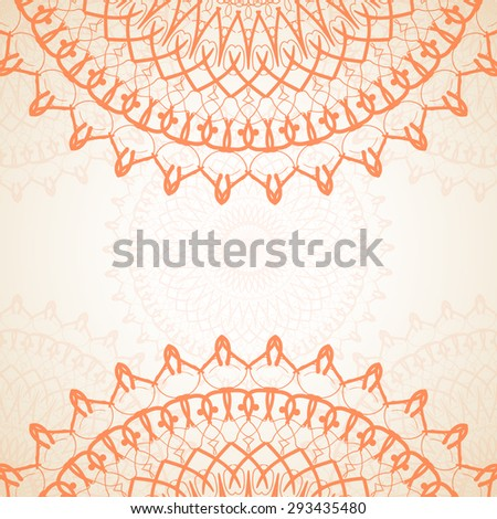 Abstract circular orange pattern background. The best background for your greeting card. Vector illustration EPS 10.