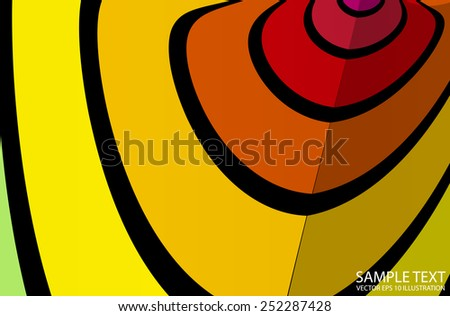 Abstract circular rings in space lighted background illustration - Vector abstract colorful striped background template - stock vector