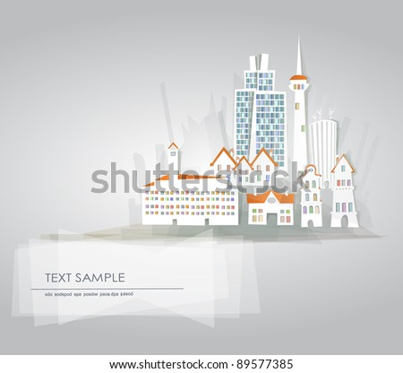 Abstract city background - stock vector