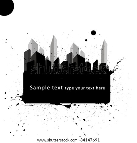 abstract city frame - stock vector