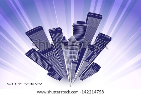 abstract city landscape - stock vector